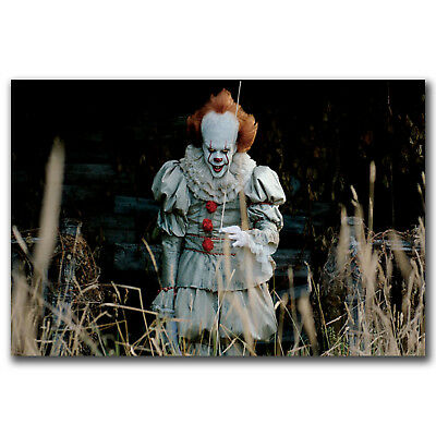 Movie It Pennywise Stephen King Art Hot 12x18 24x36in FABRIC Poster N3354