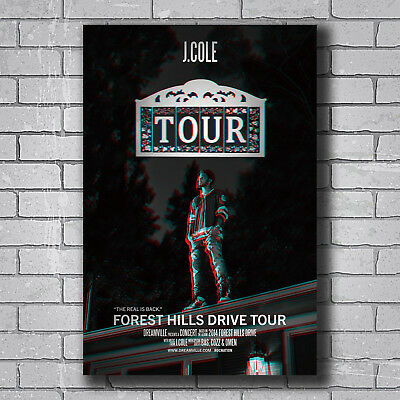 N-392 J Cole 2014 Forest Hills Drive Hot Wall Poster Art 20x30 24x36IN