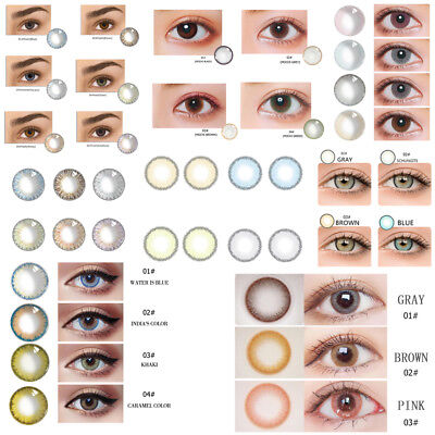 Natural Glass Contact Lenses Men Women Party Eye Beauty Makeup Multiple Choices