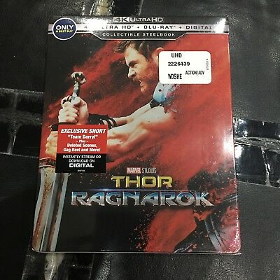 Thor Ragnarok Steelbook (4K UHD+Blu-ray+Digital) | Best Buy Exclusive NEW Marvel