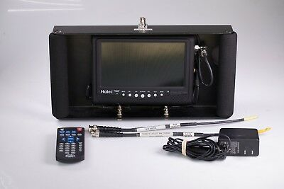 "Haier HLT71 7"" Portable Monitor in Rack w/ External Panasonic Mount"
