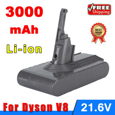 3000mAh 21.6V Rechargeable Battery For Dyson V8 Vacuum Cleaner 86.4Wh