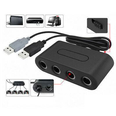 4 Port USB Gamecube NGC Controller Adapter For Nintendo Switch/Wii U /PC 3in1