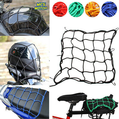 Elastic Bungee Net Holder Motorcycle Storage Helmet Tank Luggage Hook Mesh
