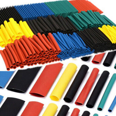 530* Color Heat Shrink Tubing Tube Assortment Wire Cable Insulation Sleeving UIK
