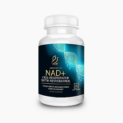 Actif NAD+ Cell Regenerator 350 Mg Vegetarian Capsules, Non-GMO, Made in USA