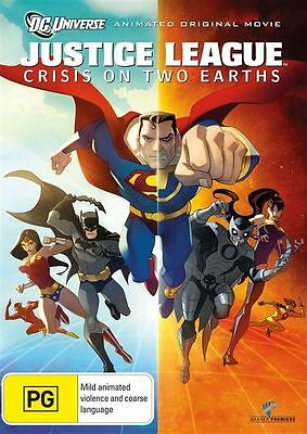 Justice League - Crisis On Two Earths (DVD, 2010) Brand New Sealed R4