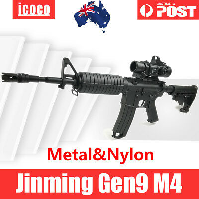 2019 Upgrade Metal & Nylon Accessories Jinming Gen9 M4Gel Ball Blaster Toy AU