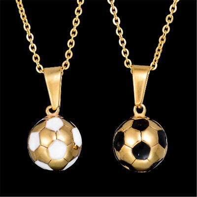 Fashion sweater necklace titanium steel soccer modeling drip men 's necklace O6