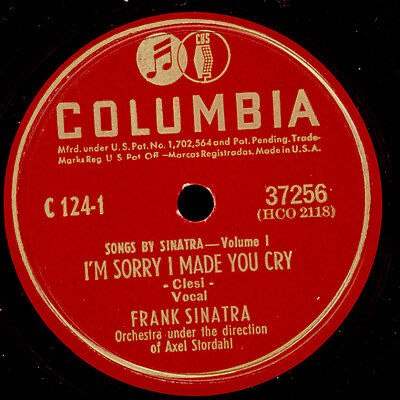 FRANK SINATRA -THE VOICE- I'm sorry I made you cry / I concentrate...78rpm S8356