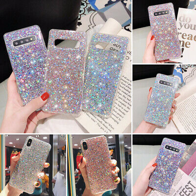Bling Glitter Shockproof Soft Silicone Case Cover For Samsung J6 Plus S10 J6 A8
