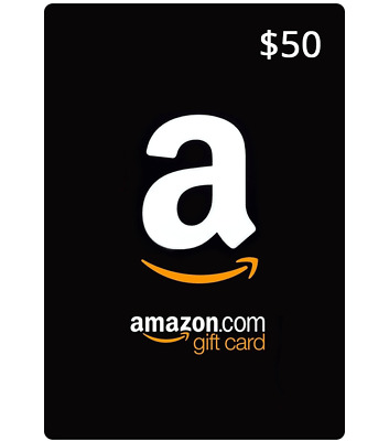 $50 NEW AMAZON Gift Card FAST SAME DAY SHIPPING