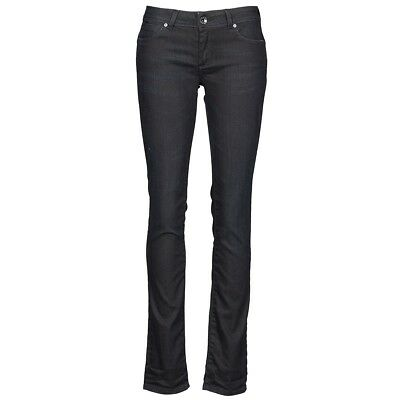 Dettagli su JEANS GAS DONNA BRITTY BODY FIT SLIM BISTRETCH BLU DENIM LUCIDO CON FILO BLU