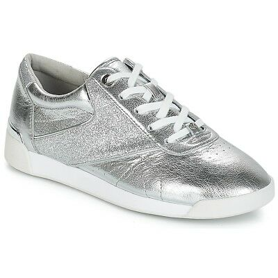 cheap for discount 5fbad fd0d7 SNEAKERS Scarpe donna MICHAEL Michael Kors ADDIE LACE UP Argento Argent...
