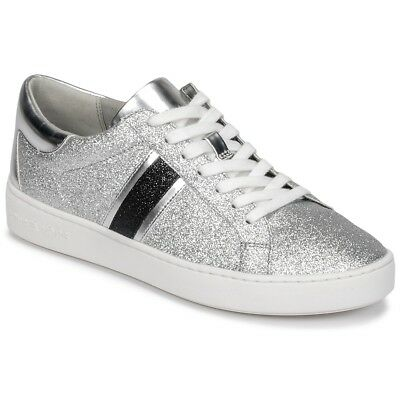 Sneakers Scarpe donna MICHAEL Michael Kors IRVING STRIPE LACE UP Argent. 20013bf8208