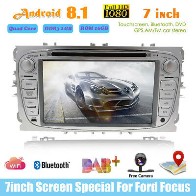 7'' Touch Screen 2din Android 8.1 BT Car Stereo DVD GPS Radio FM For Ford Focus