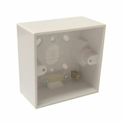 Surface Mounted 41mm Deep Back Box Single Pattress for Shower & Cooker Switches