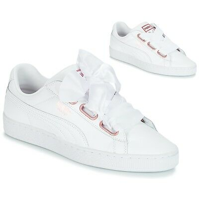 Sneakers   Scarpe donna Puma  WN SUEDE HEART LEATHER.WHI  Bianco Bianco Cuo...