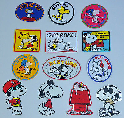 SNOOPY DOG WOODSTOCK PEANUTS IRON or SEW ON PATCH BADGE EMBROIDERY APPLIQUE NEW