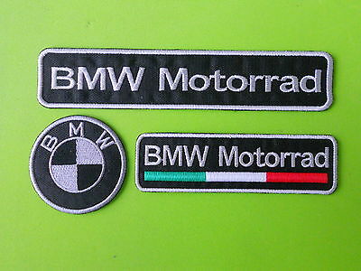 Bmw Motorrad  Kit 3 Patch Toppe Ricamate Termoadesive