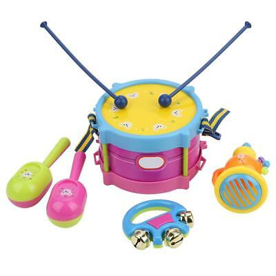 Musical Instrument Band Kit Early Music Education Drum Trumpet Handbell Kid Toy