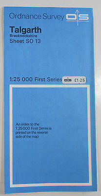 1976 old vintage OS Ordnance Survey 1:25000 First Series Prov Map SO 13 Talgarth