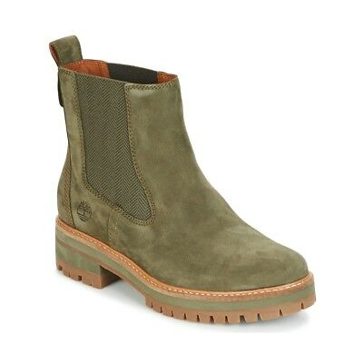 f847c8a05d1f27 Stivaletti donna Timberland COURMAYER VALLEY CHELSEA Verde Verde Cuoio  6074788