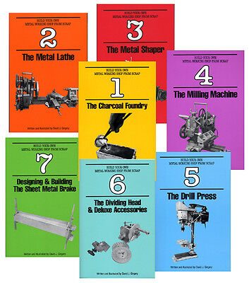 Build Your Own Metal Working Shop from Scrap (7 vols paperback set) (Gingery)