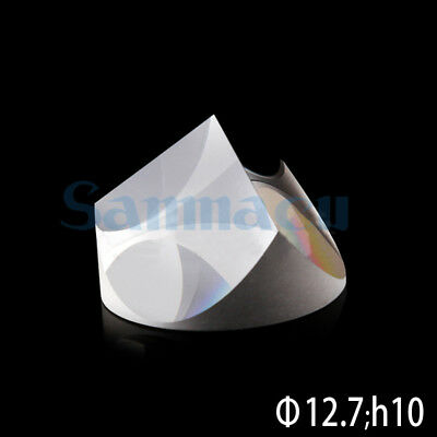 Optical Glass Pyramid Prism K9 12.7mmx10mm Physics Refractor Light Spectrum