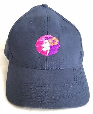Rare Authentic Hawaiian Airlines Hat Pualani Blue Embroidered Logo Cap Pre-Owned