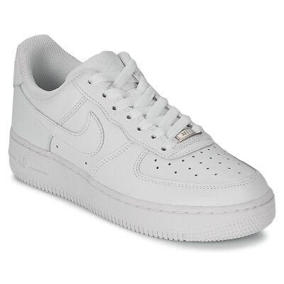 308897bef Sneakers Scarpe donna Nike AIR FORCE 1 07 LEATHER W Bianco Bianco Cuoio.