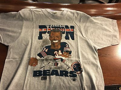 Vintage 80's NFL Chicago Bears Walter Payton Salem Cartoon Shirt Rare Large Nice