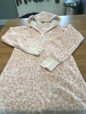 Next Pink Animal Print One Piece Pj All In One  Size Small Onesey Leopard Print