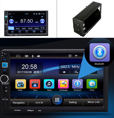 "7"" 2 Din Car MP3 MP5 Radio Player WIFI GPS Navi Touch Bluetooth For Android"