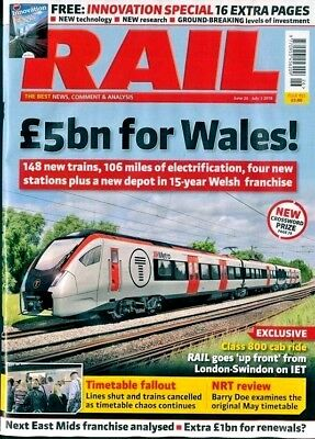 RAIL MAGAZINE ISSUE #855 20th JUNE - 3rd JULY 2018 ~ NEW ~
