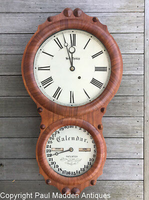 "Antique Seth Thomas ""Office Calendar No. 4"" Clock"