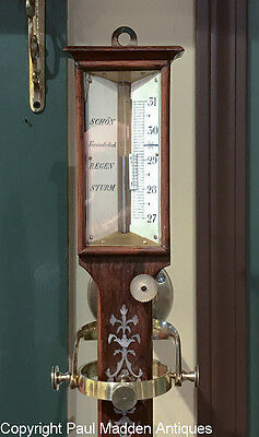 Antique 19th C. German Ship's Barometer