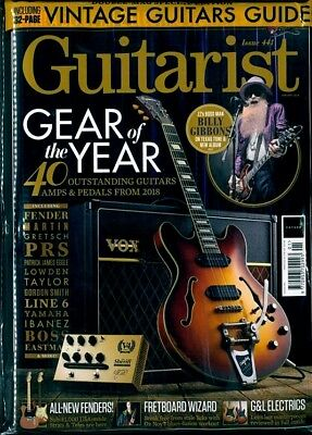 Guitarist Magazine Number 441 January 2019 With Free Vintage Guitars Guide