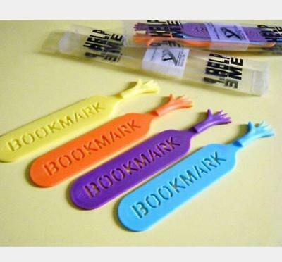 4pcs Book Marker Hand Shape Cute Cartoon Fancy Tools For Bookmark Reader