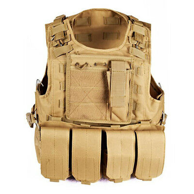 Military Vest Hunting Tactical Plate Carrier Holster Police Assault Combat Gear