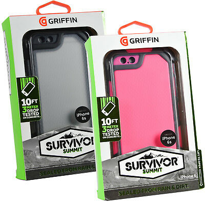 Genuine Griffin Survivor Summit Tough Rugged Case Cover Hostler For iPhone 6 6S