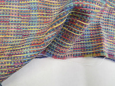 Designer Fabric Quality Upholstery 104 In x 16 In Random Stripe Textural