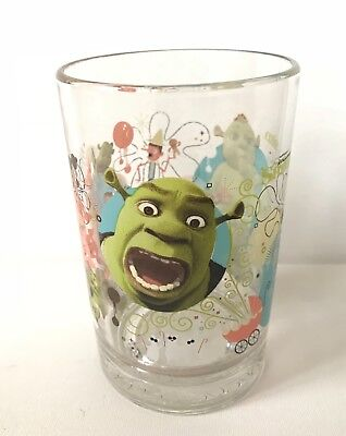 McDonald's Shrek the Third Glass Collector's Cup Excellent Condition
