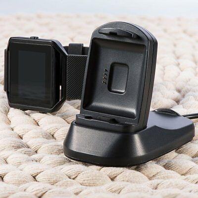 USB Charging Stand Multifunction Charger Cradle Holder for Fitbit Blaze Watch@PT