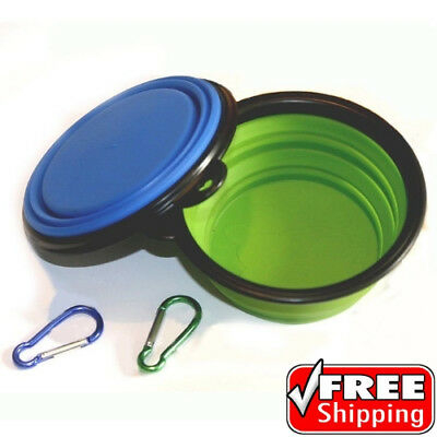 Comsun 2pack Collapsible Dog Bowl Food Grade Silicone BPA Free Foldable