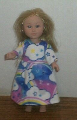 "6-7"" Doll Clothes-fit Mini American Girl My Life-Nightgown-Rainbows"