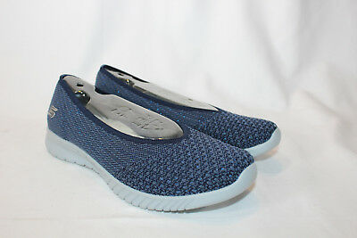 6a02a86230ab SKECHERS GO STEP Luxe Mesh Slip-On Ballet Shoes Sneakers Womens 7 M ...