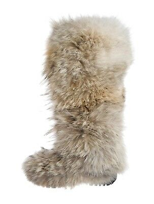 Ralph Lauren Collection Coyote Fur Round Toe, Knee High, Robber Sole Boots. 38.5