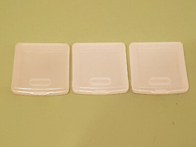 3 Official Sega Game Gear Plastic Protective Clear Game Cases