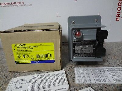 Square D 2510Fw1P Manual Motor Starter Brand New In The Box Free Shipping